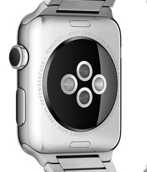 Apple Watch sensors on the underside