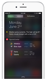iOS 8 Notification Center Widgets