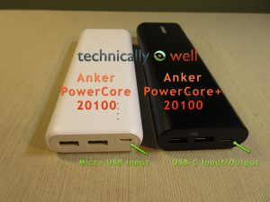Anker PowerCore 20100 Differences