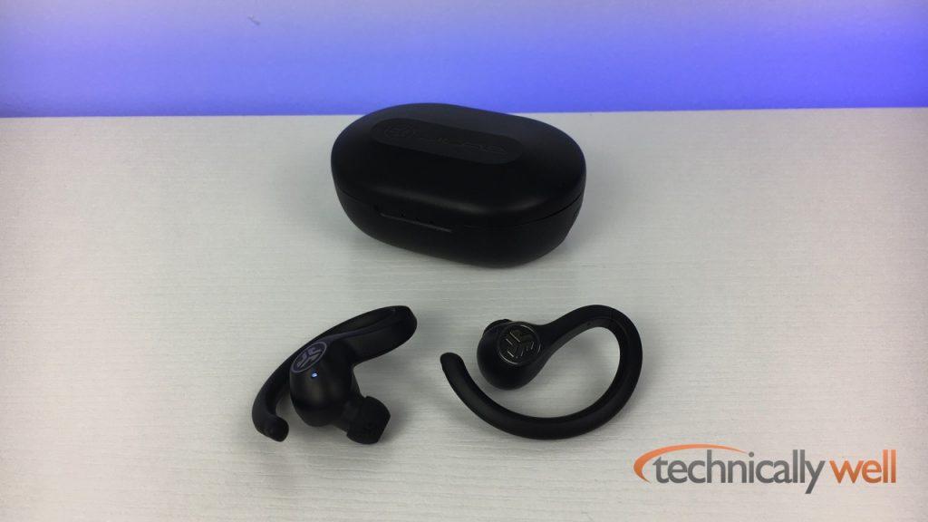 JLab JBuds Air Sport True Wireless In-Ear Headphones and case