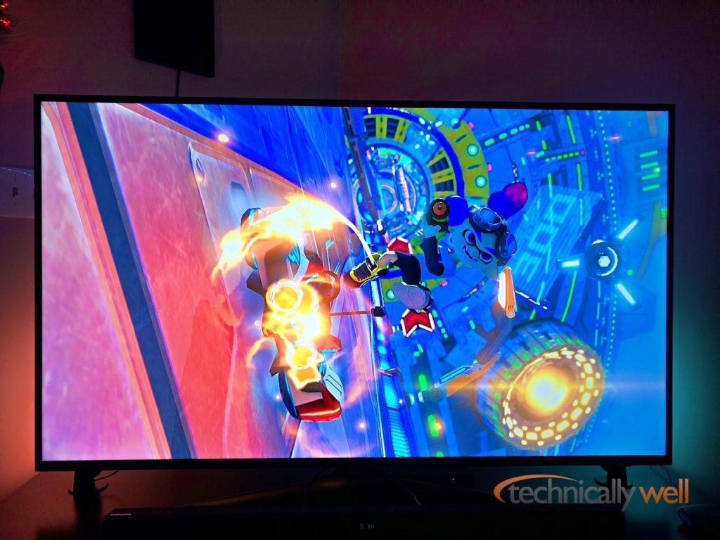 Philips Sync Box while playing Mario Kart