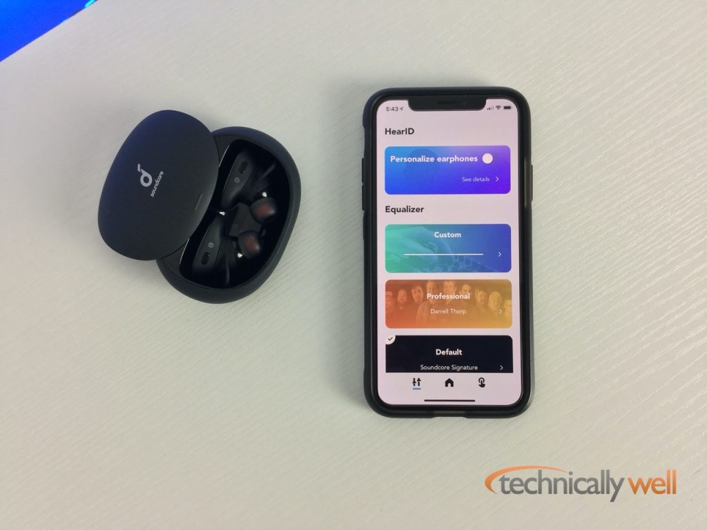 Liberty 2 Pro headphones with the Soundcore App