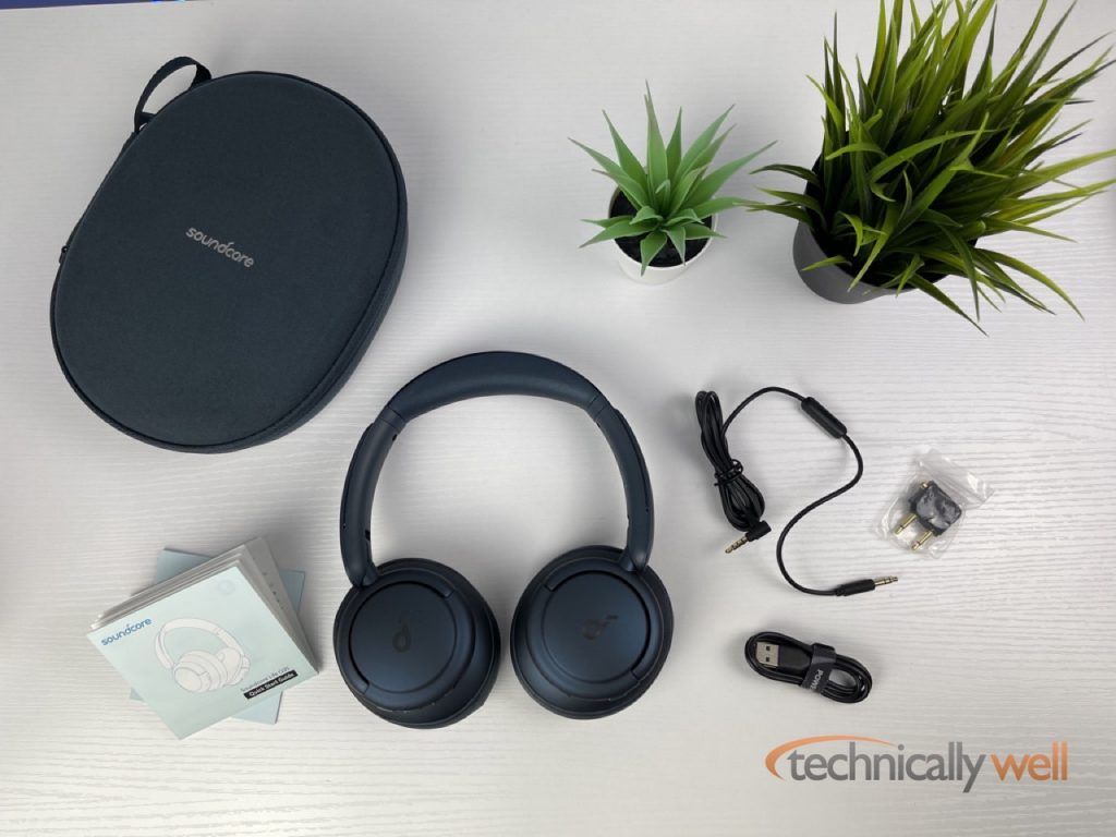 Soundcore Life Q35 with included accessories