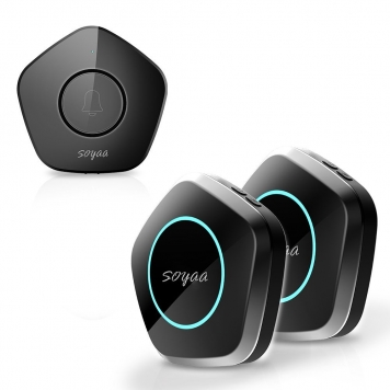 SOYAA Wireless Doorbell Button with 2 Receivers